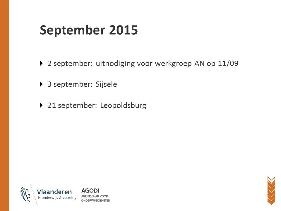 September 2015 Recht op onderwijs realiseren? Dé uitdaging