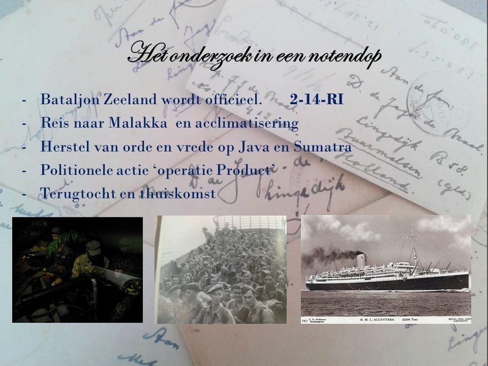 Het onderzoek in een notendop -Bataljon Zeeland wordt officieel.