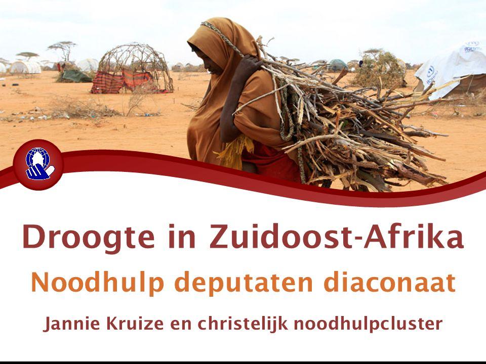 Droogte in Zuidoost-Afrika Noodhulp deputaten diaconaat Jannie Kruize en christelijk noodhulpcluster