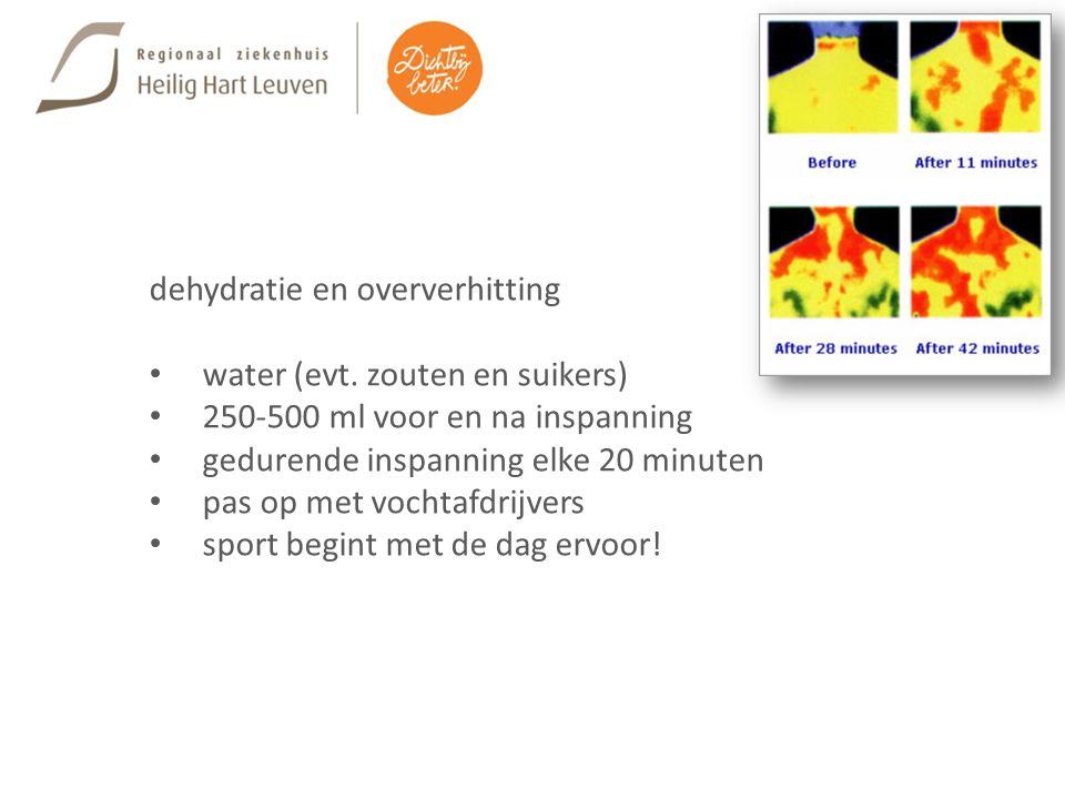 dehydratie en oververhitting water (evt.