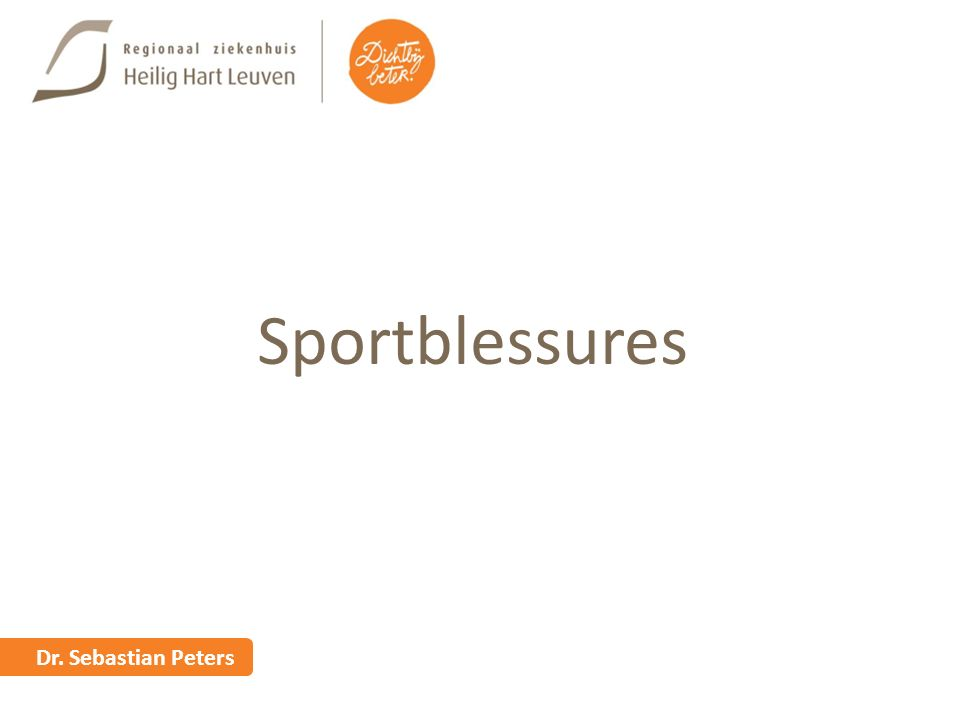 Sportblessures