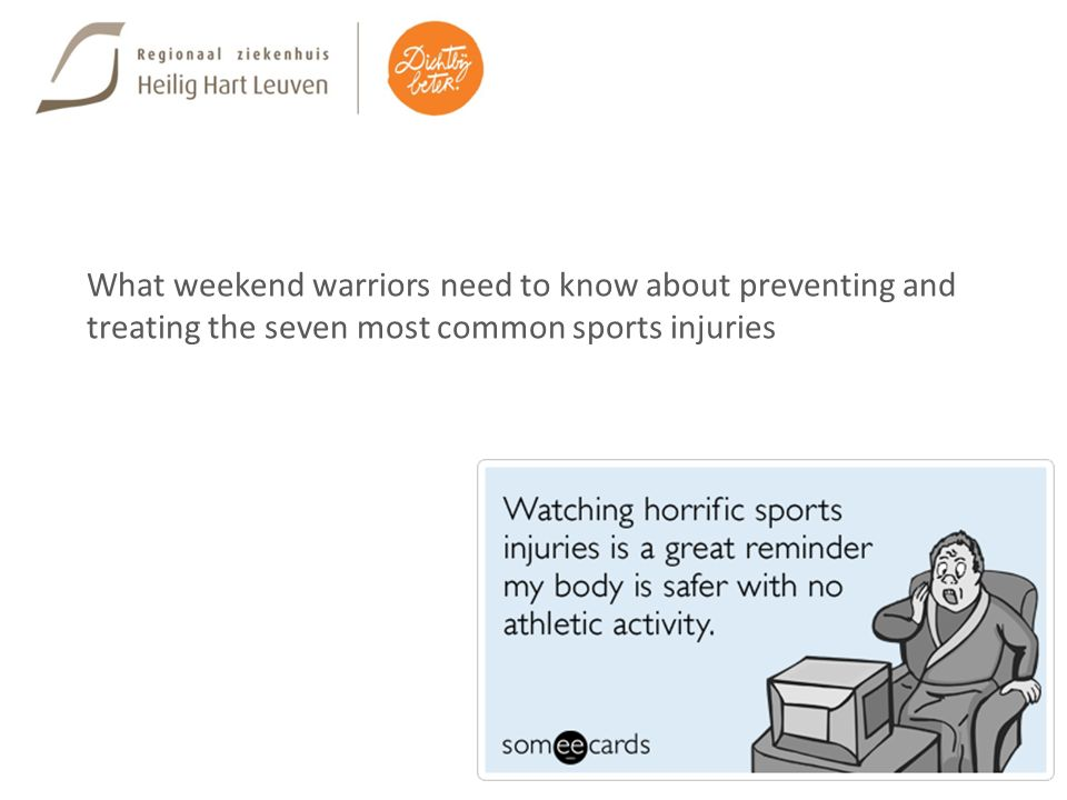 What weekend warriors need to know about preventing and treating the seven most common sports injuries