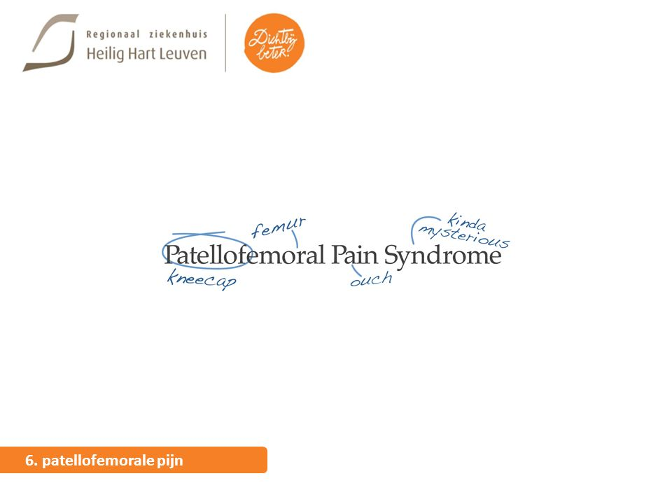 6. patellofemorale pijn