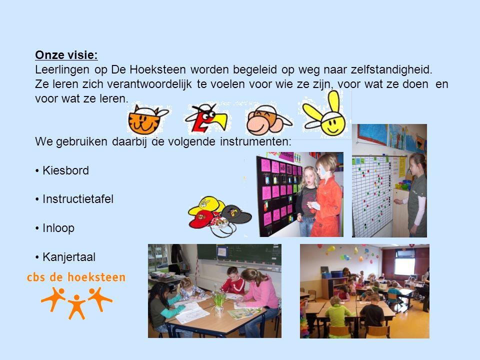 Onze visie: Leerlingen op De Hoeksteen worden begeleid op weg naar zelfstandigheid.