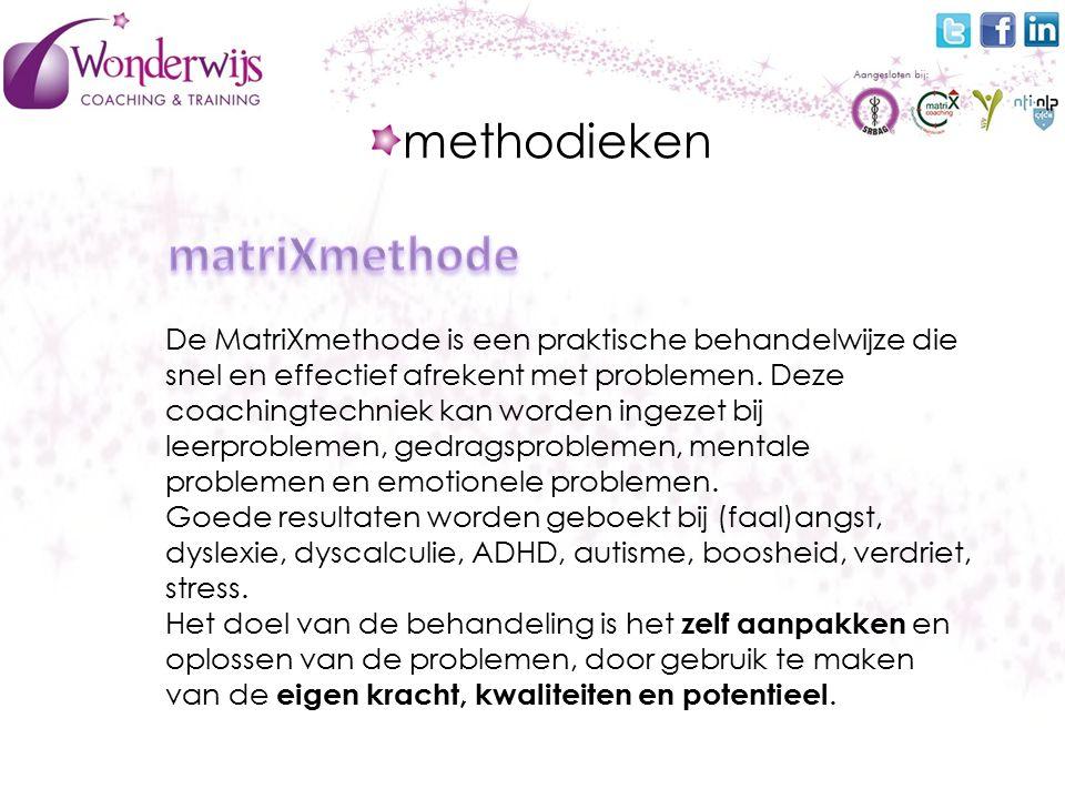 De MatriXmethode is een praktische behandelwijze die snel en effectief afrekent met problemen.