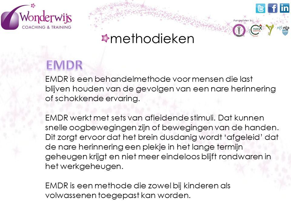EMDR is een behandelmethode voor mensen die last blijven houden van de gevolgen van een nare herinnering of schokkende ervaring.