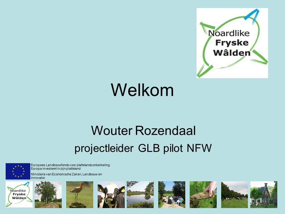 Welkom Wouter Rozendaal projectleider GLB pilot NFW Europees Landbouwfonds voor plattelandsontwikkeling: Europa investeert in zijn platteland Ministerie van Economische Zaken, Landbouw en Innovatie