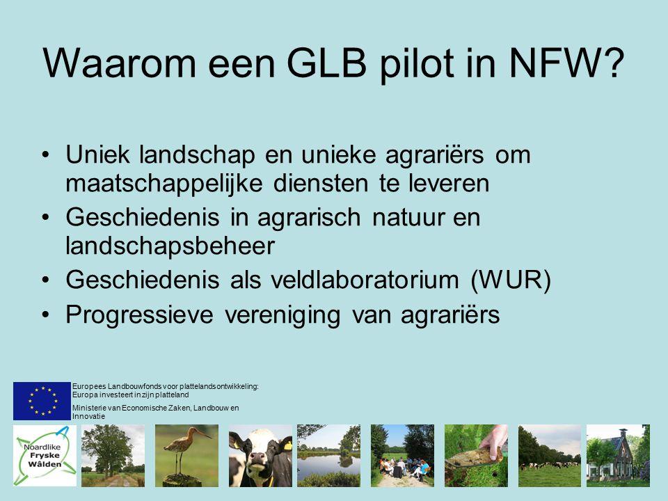 Waarom een GLB pilot in NFW.