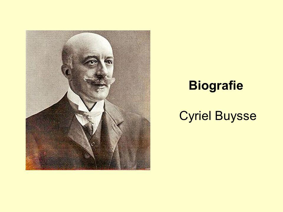 Biografie Cyriel Buysse