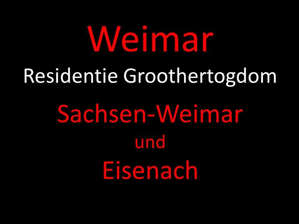 Weimar Residentie Groothertogdom Sachsen-Weimar und Eisenach
