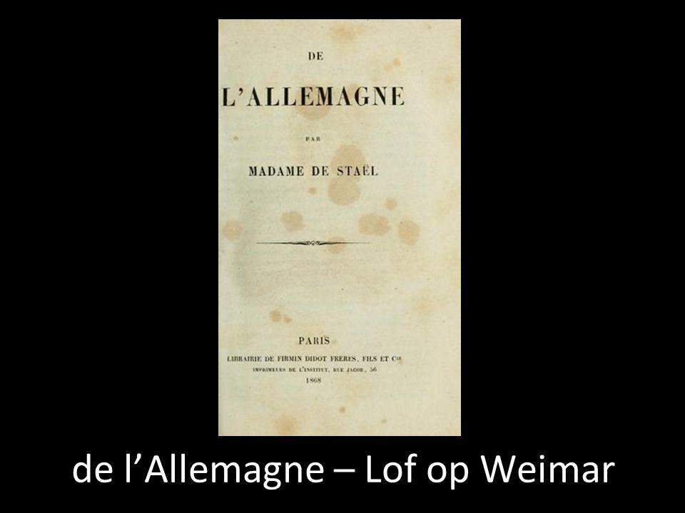 de l'Allemagne – Lof op Weimar