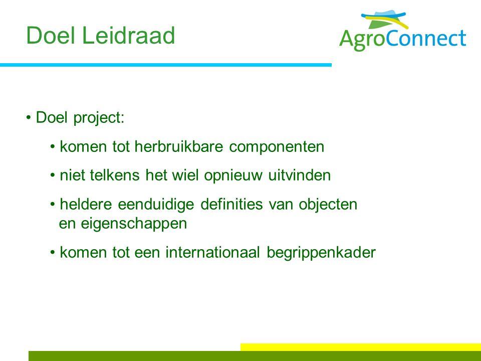 Verschillende standaarden EDIFACT-agro ADIS ADED FE XML UN/CEFACT PT XML UN/CEFACT GS1 XML UN/CEFACT 5