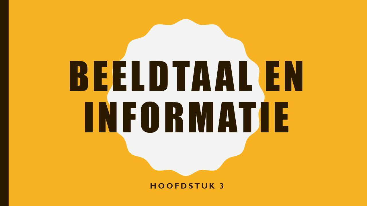BEELDTAAL EN INFORMATIE HOOFDSTUK 3