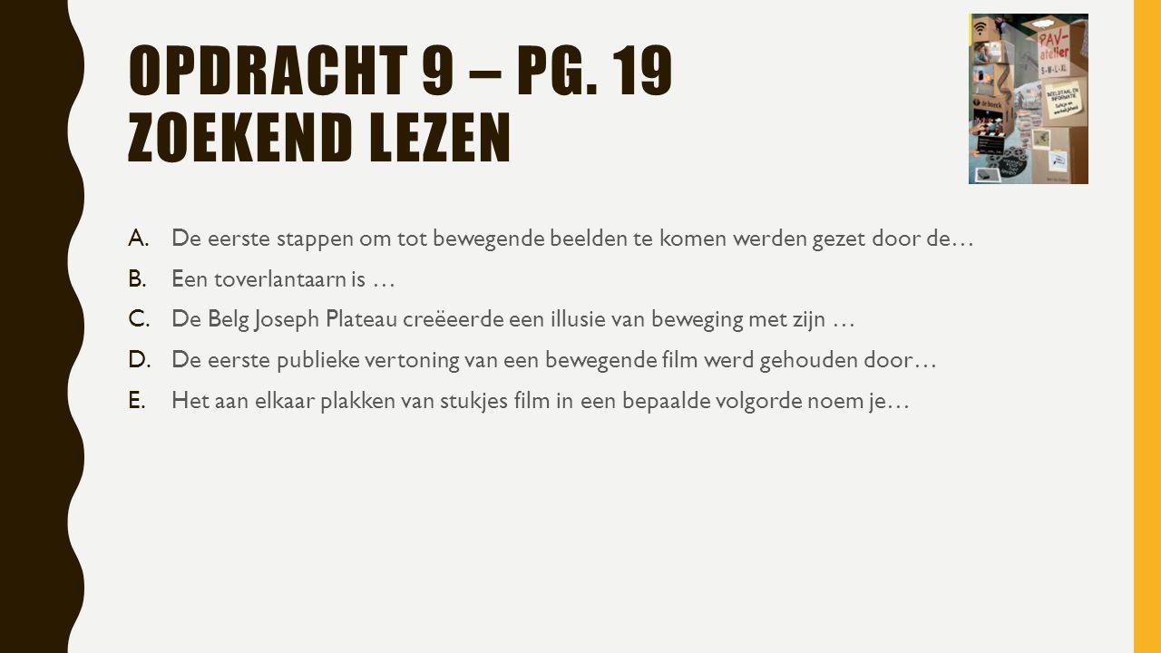OPDRACHT 9 – PG.