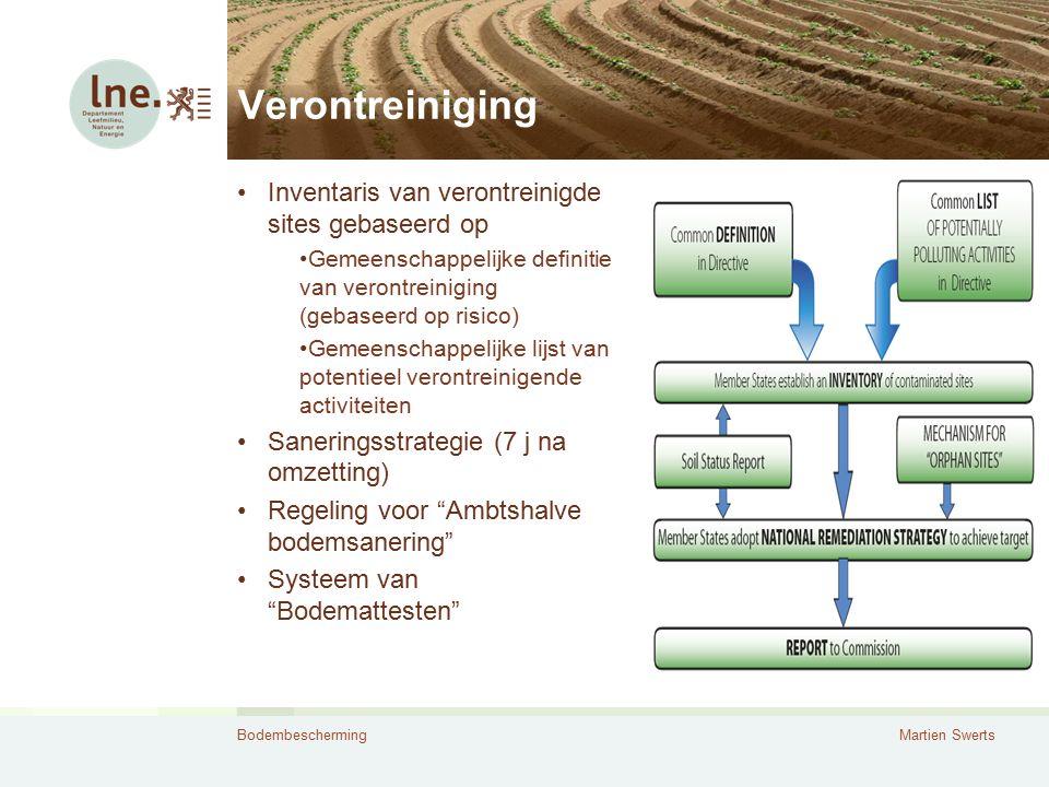 BodembeschermingMartien Swerts Verontreiniging Inventaris van verontreinigde sites gebaseerd op Gemeenschappelijke definitie van verontreiniging (geba
