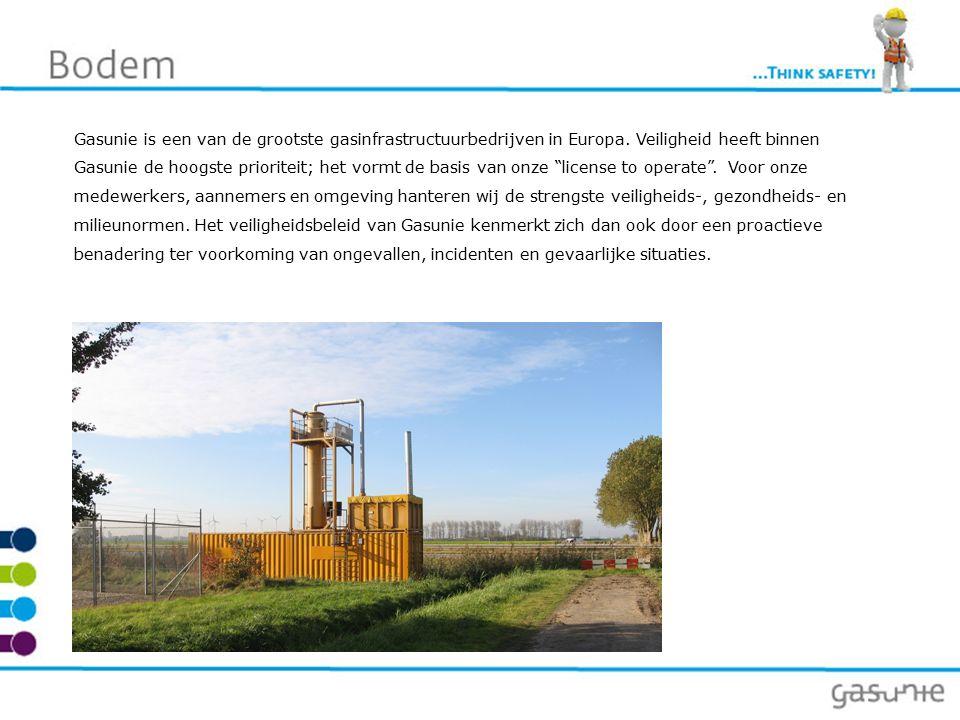Bodem Gasunie voert ten behoeve van onderhoud aan de ondergrondse infrastructuur en aanleg van nieuwe installaties graafwerkwerkzaamheden uit in de bodem.