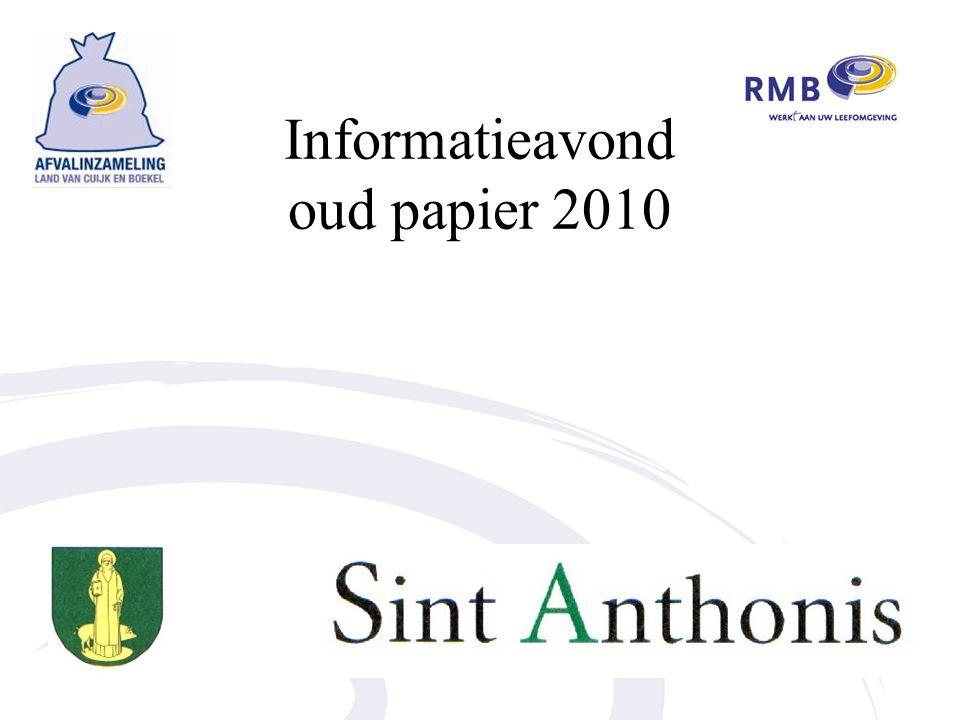 Informatieavond oud papier 2010