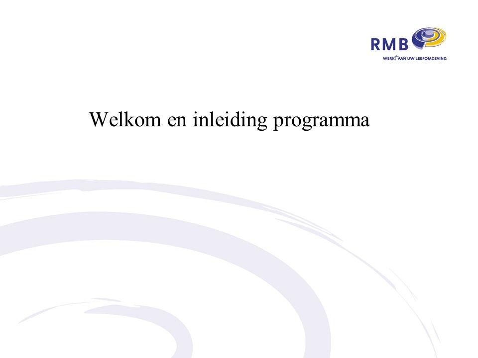 Welkom en inleiding programma
