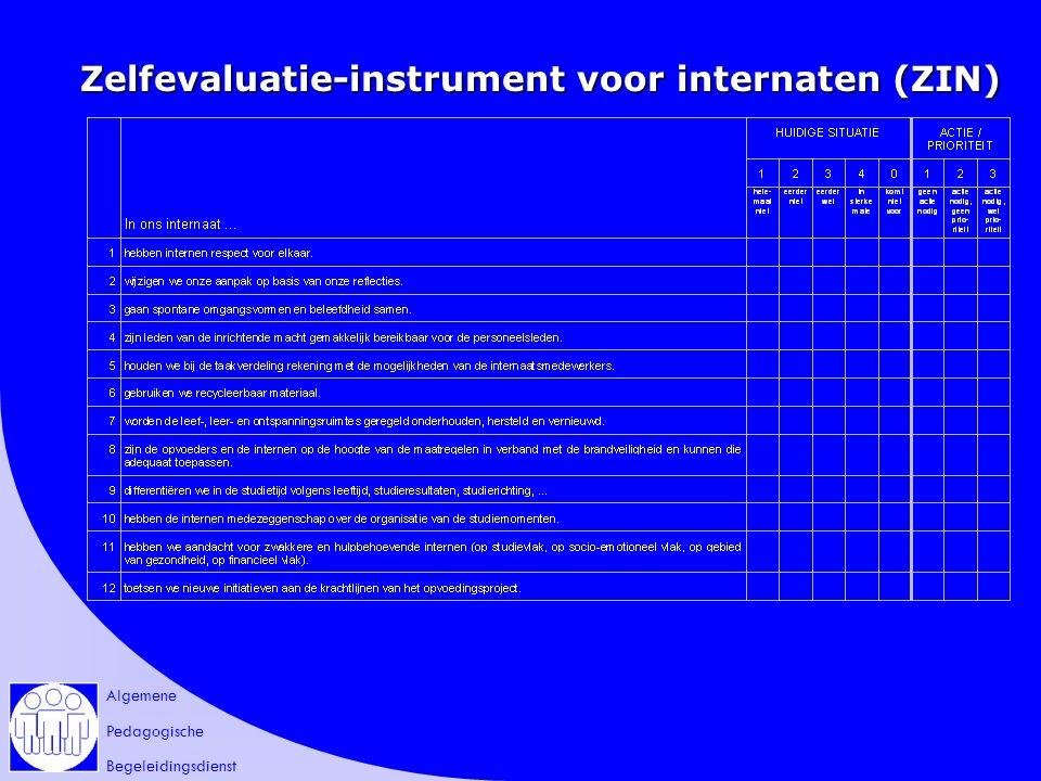 Algemene Pedagogische Begeleidingsdienst Zelfevaluatie-instrument voor internaten (ZIN)