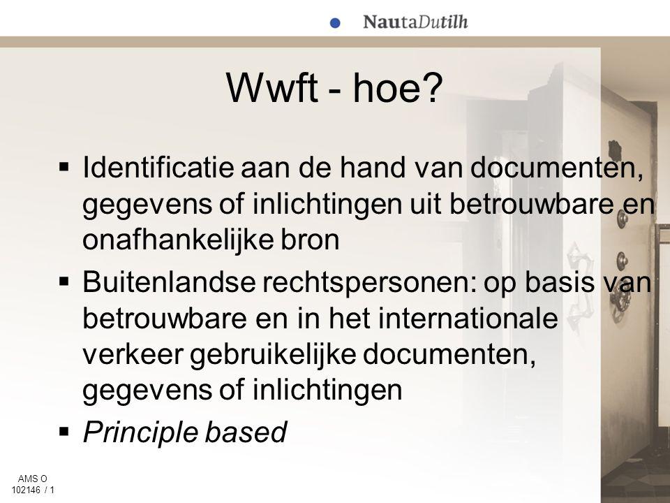 AMS O 102146 / 1 Wwft - hoe.