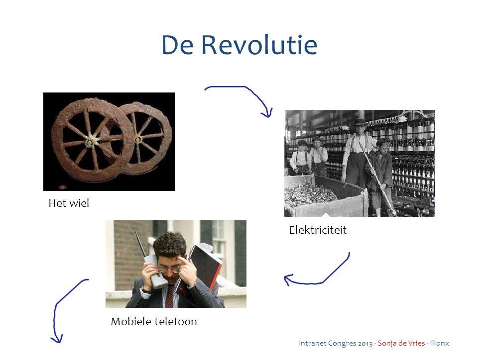 De Revolutie Intranet Congres 2013 - Sonja de Vries - ilionx Het wiel Elektriciteit Mobiele telefoon