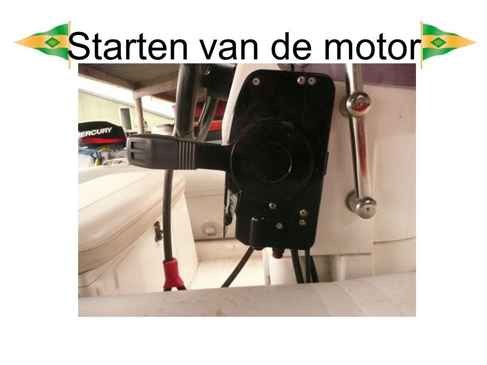 Starten van de motor