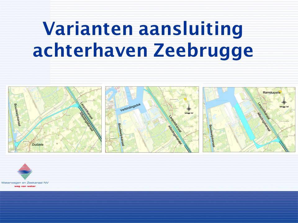 Varianten aansluiting achterhaven Zeebrugge