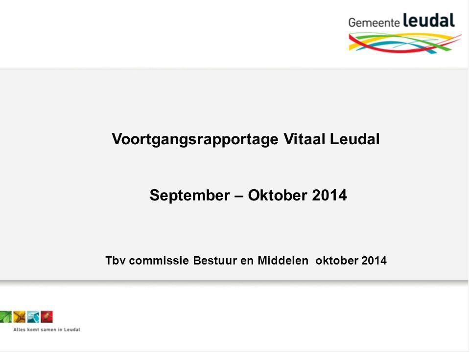 Voortgangsrapportage Vitaal Leudal September – Oktober 2014 Tbv commissie Bestuur en Middelen oktober 2014