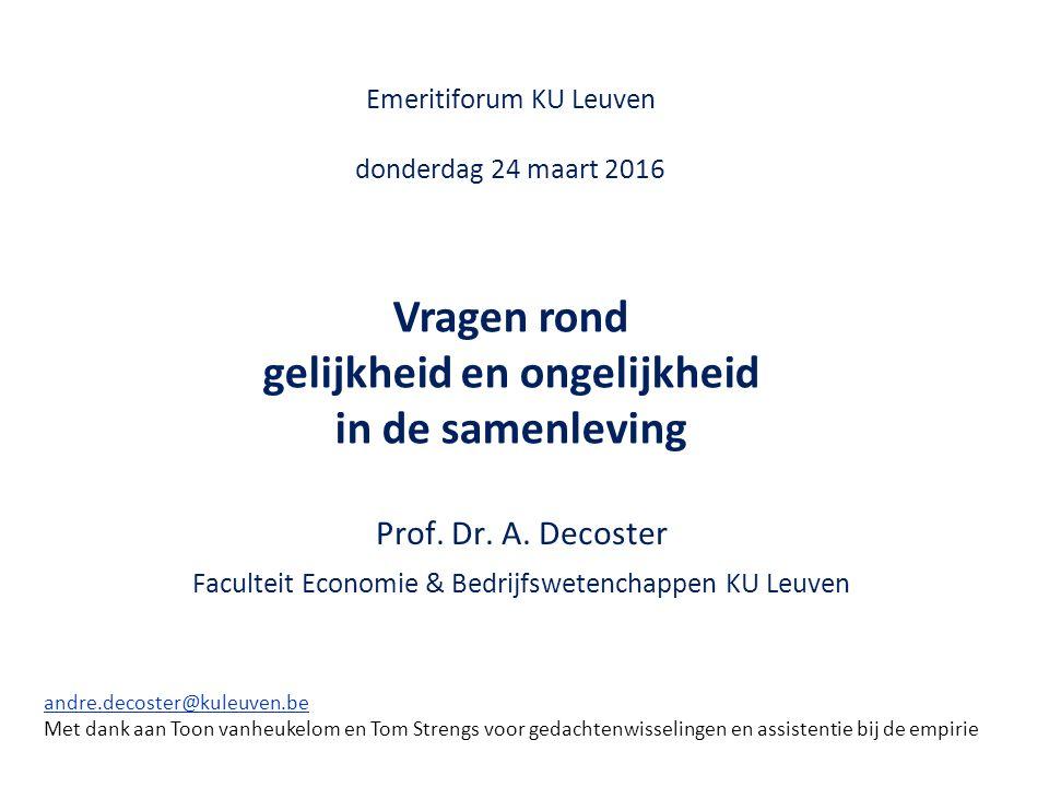 Emeritiforum KU Leuven donderdag 24 maart 2016 Prof.