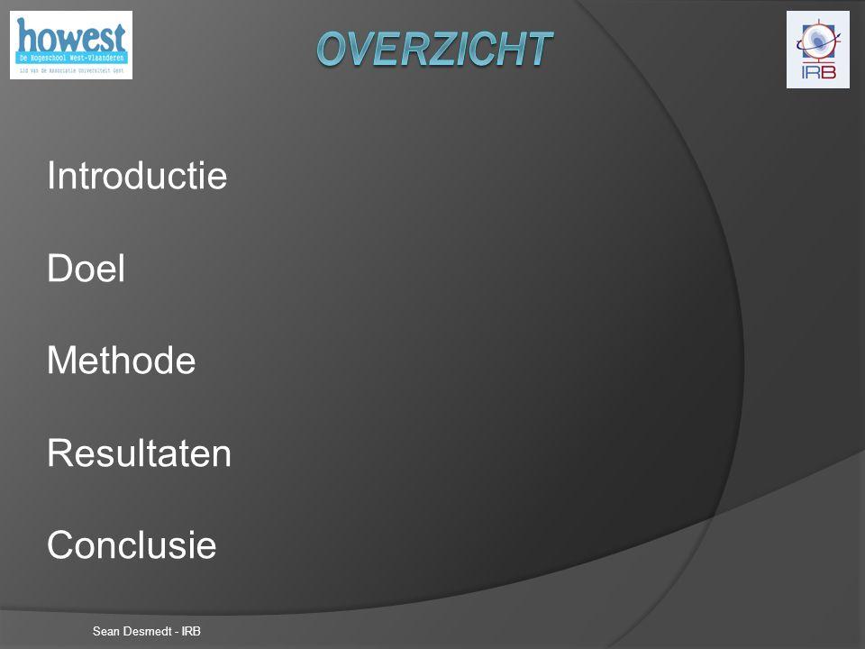 Introductie Doel Methode Resultaten Conclusie