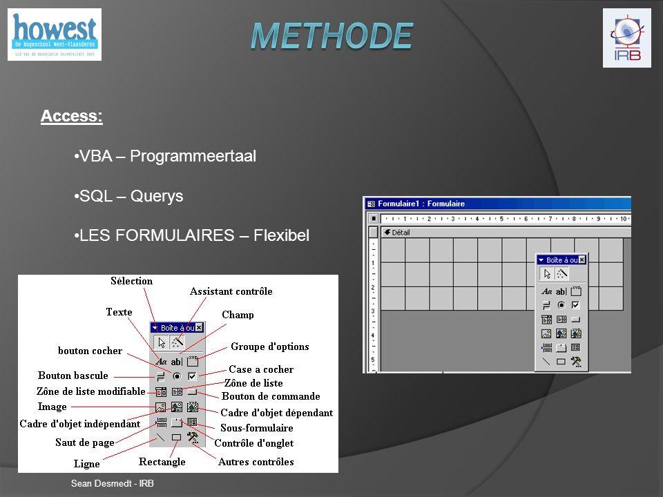 Sean Desmedt - IRB Flexibel: Code kan runnen bij verschillende gebeurtenissen