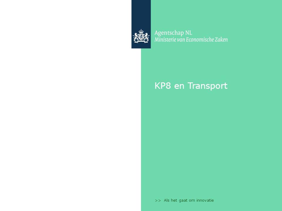 >> Als het gaat om innovatie KP8 en Transport