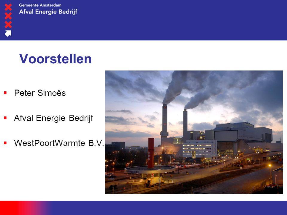 woensdag 1 juni 2016 Voorstellen  Peter Simoës  Afval Energie Bedrijf  WestPoortWarmte B.V.