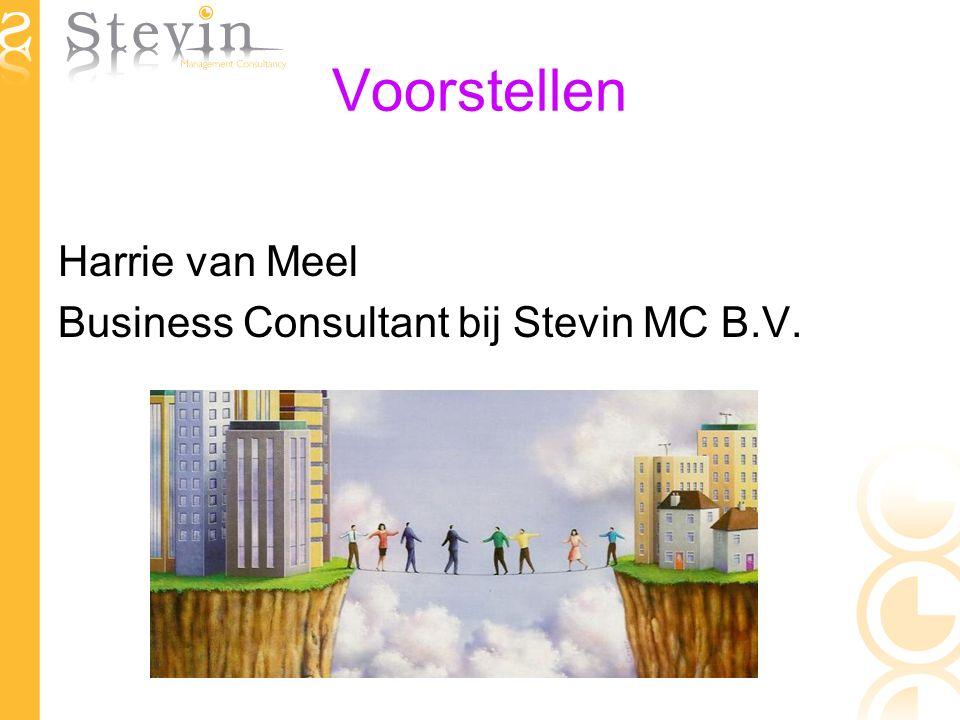 Voorstellen Harrie van Meel Business Consultant bij Stevin MC B.V.