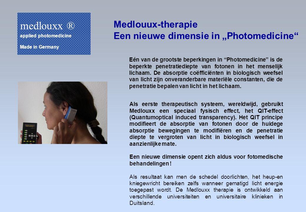 """Eén van de grootste beperkingen in """"Photomedicine"""" is de beperkte penetratiediepte van fotonen in het menselijk lichaam. De absorptie coëfficiënten in"""