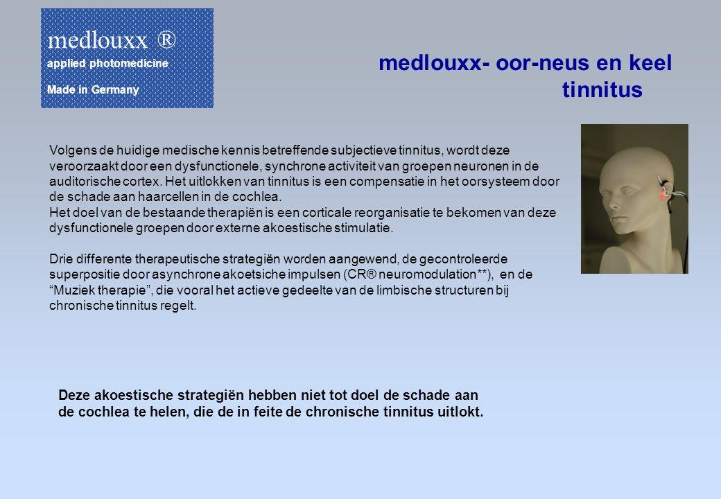 medlouxx- oor-neus en keel tinnitus Volgens de huidige medische kennis betreffende subjectieve tinnitus, wordt deze veroorzaakt door een dysfunctionel