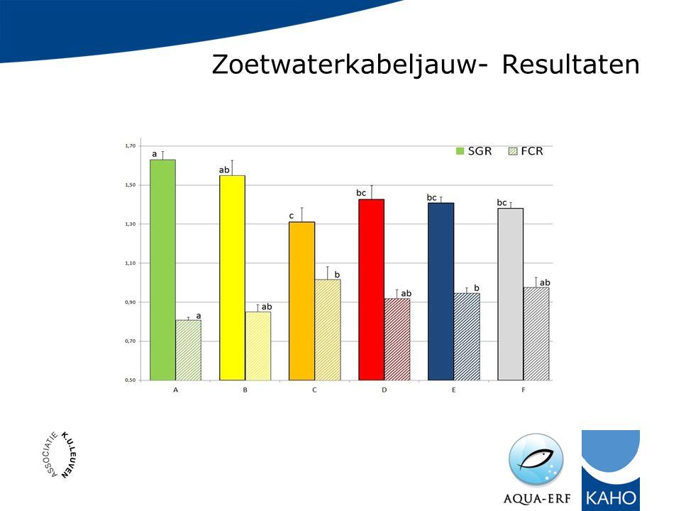 Zoetwaterkabeljauw- Resultaten