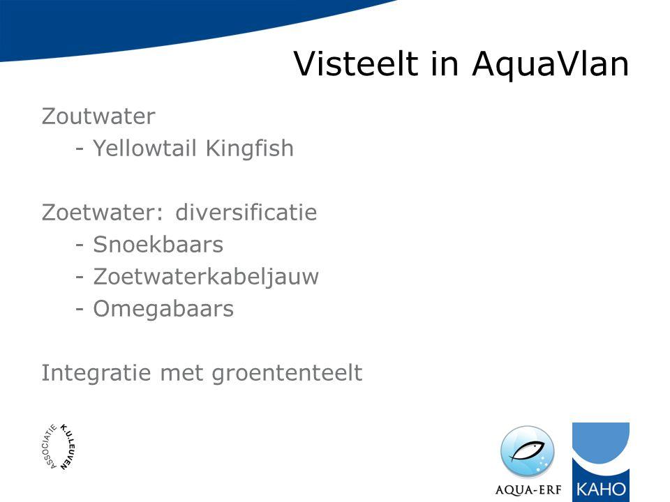 Visteelt in AquaVlan Zoutwater - Yellowtail Kingfish Zoetwater: diversificatie - Snoekbaars - Zoetwaterkabeljauw - Omegabaars Integratie met groententeelt