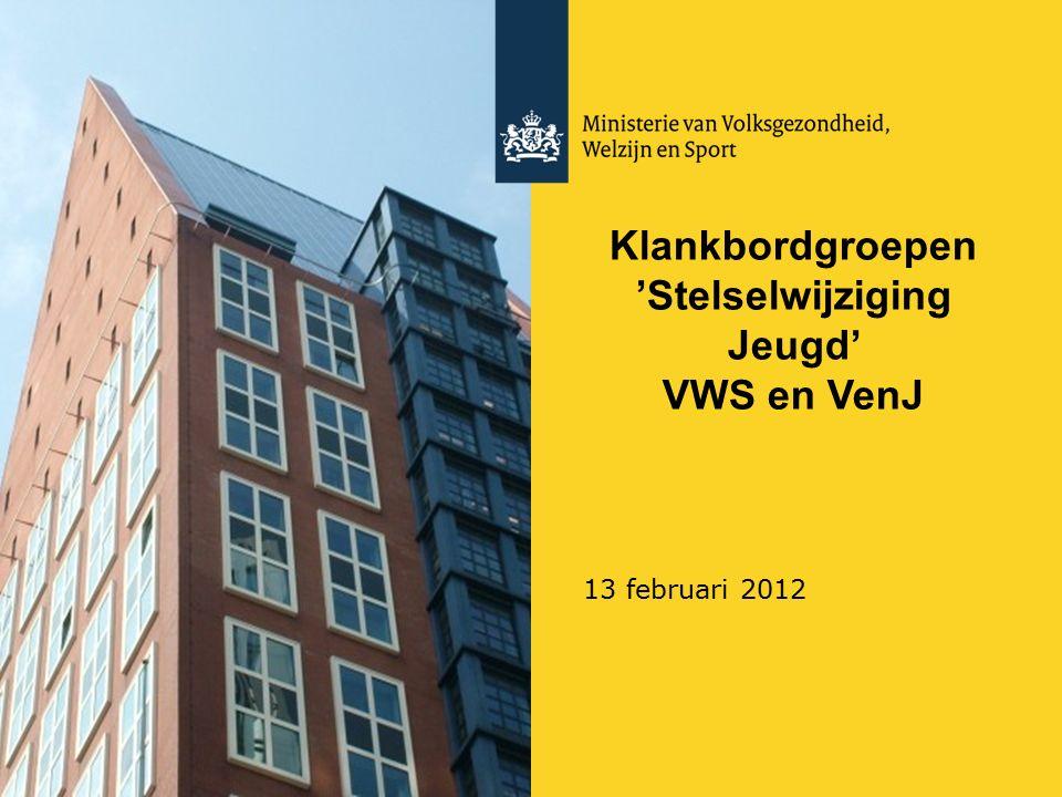 Klankbordgroepen 'Stelselwijziging Jeugd' VWS en VenJ 13 februari 2012