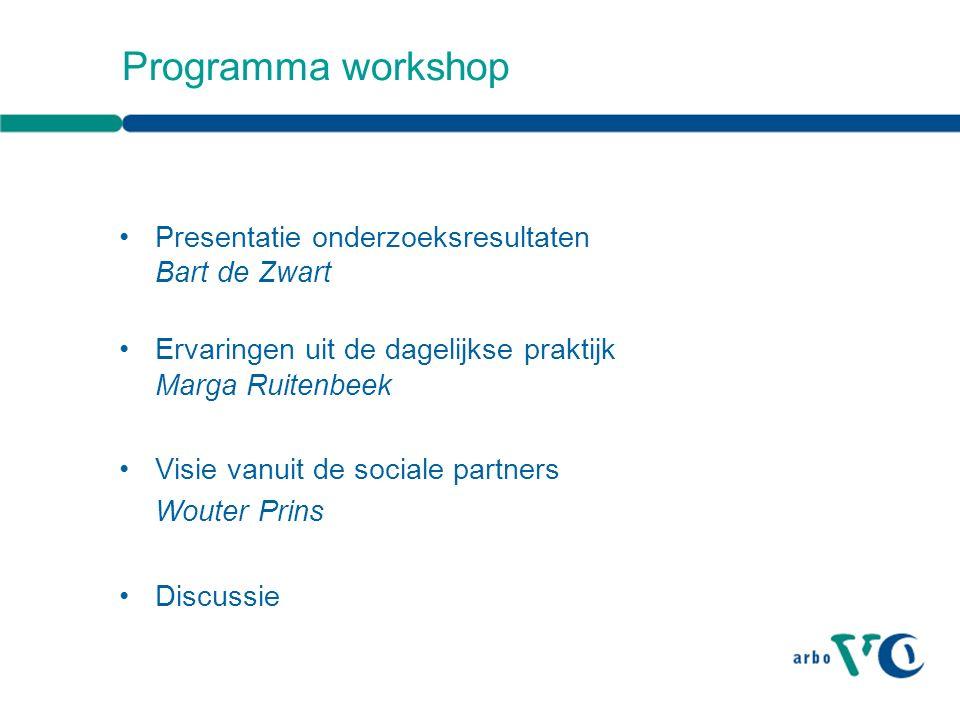 Presentatie onderzoeksresultaten Bart de Zwart, AStri beleidsonderzoek en -advies