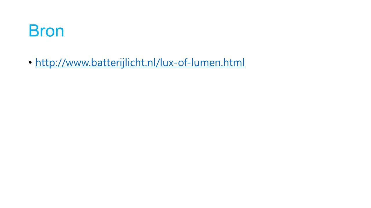 Bron http://www.batterijlicht.nl/lux-of-lumen.html