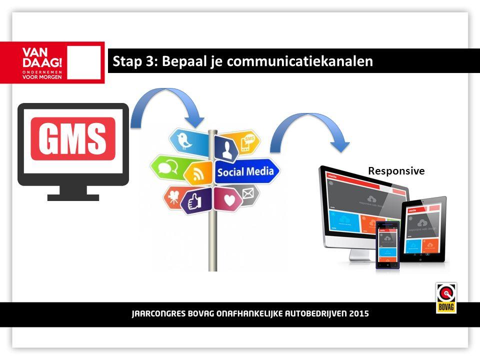 Stap 3: Bepaal je communicatiekanalen Responsive