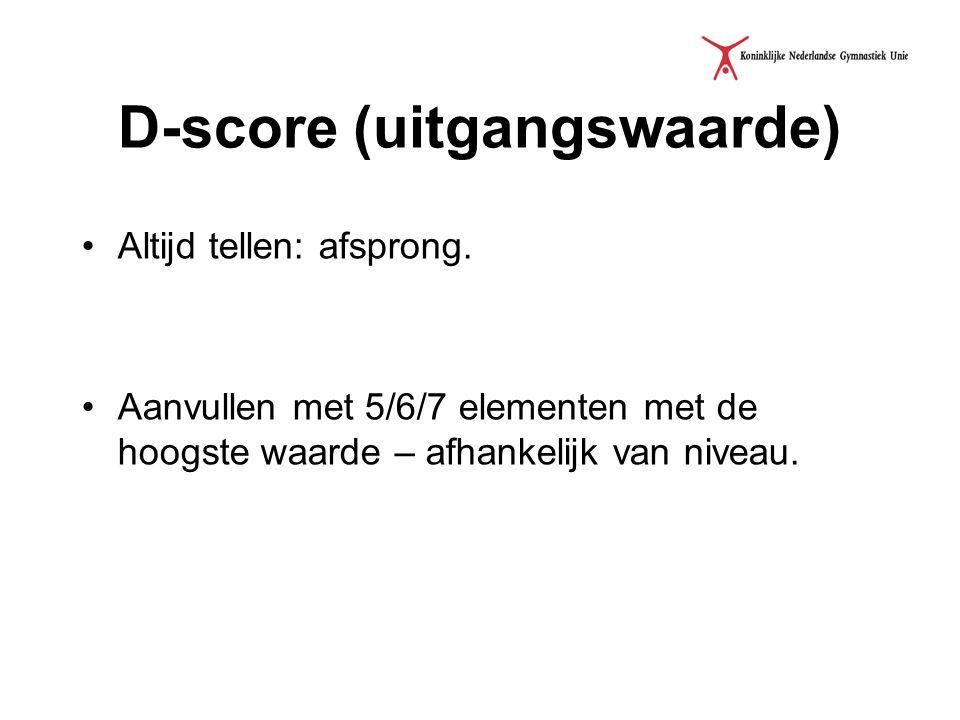 Vervolg D-score - Geen afsprong of afsprong zonder waarde.