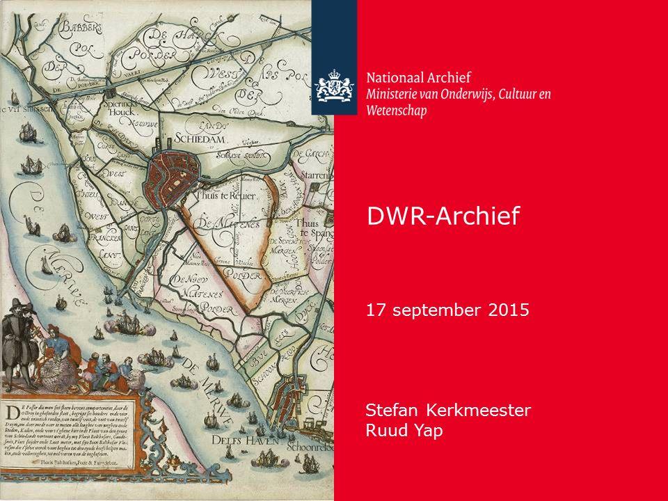 DWR-Archief 17 september 2015 Stefan Kerkmeester Ruud Yap