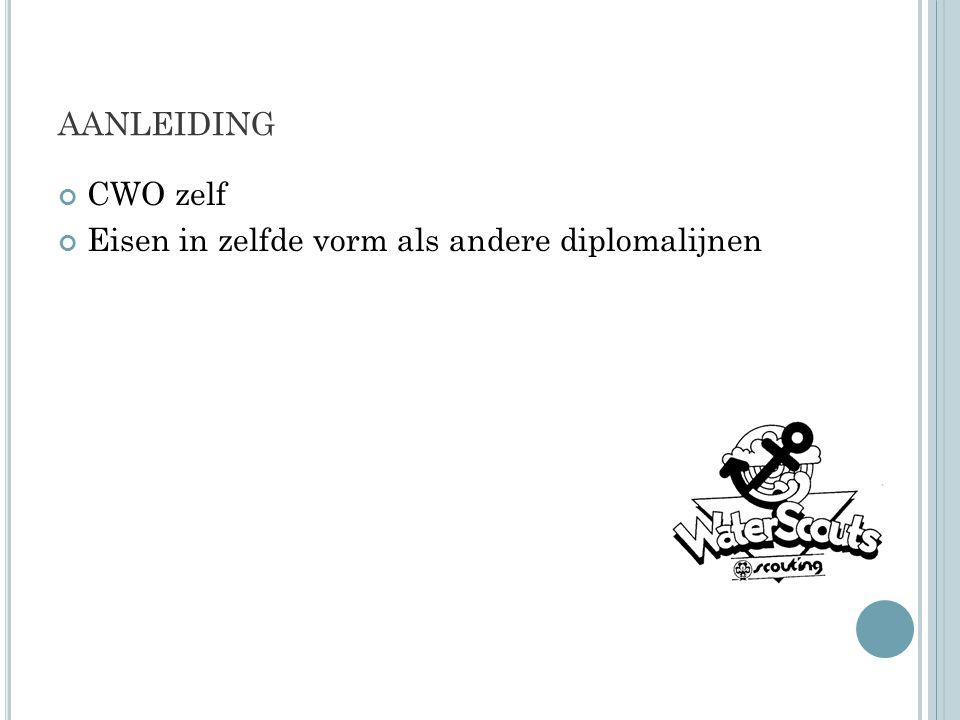 AANLEIDING CWO zelf Eisen in zelfde vorm als andere diplomalijnen