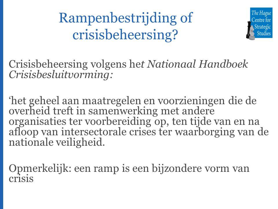 Rampenbestrijding of crisisbeheersing.