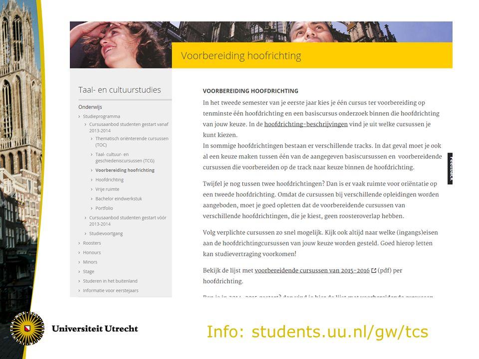 Info: students.uu.nl/gw/tcs