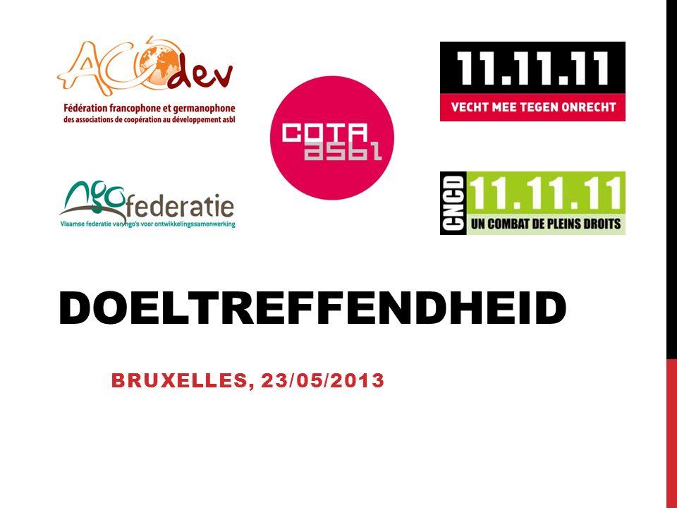 DOELTREFFENDHEID BRUXELLES, 23/05/2013