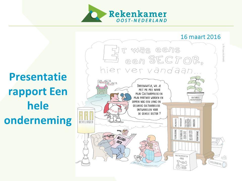 16 maart 2016 Presentatie rapport Een hele onderneming