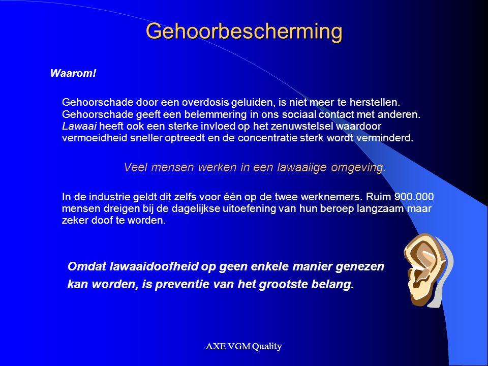 AXE VGM Quality Gehoorbescherming Wanneer maatregelen nemen.